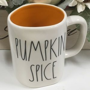 rae dunn double side pumpkin spice mug